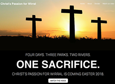 Christ's Passion for Wirral website by Bees Words and Websites, business website design, Wirral website design
