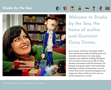 Daisy Dawes website, Wirral web design by Bees Words and Website