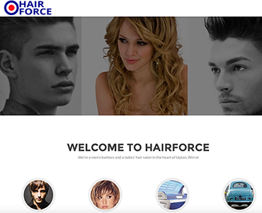 Hairforce website by Bees Words and Websites, business website design, barbers website design, Wirral website design