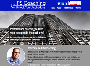 IPS Coaching website  by Bees Words and Websites, business website design, Wirral website design