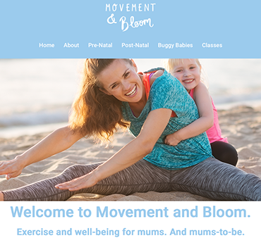 Movement and Bloom website by Bees Words and Websites, business website design, barbers website design, Wirral website design