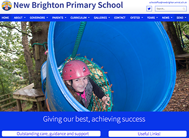 New Brighton Primary School website by Bees Words and Websites, school website design, business website design, website design, Wirral website design