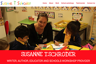Susanne Schroder website by Bees Words and Websites, business website design, Wirral website design