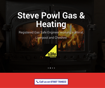 Steve Powl Gas and Heating website, Wirral web design by Bees Words and Website